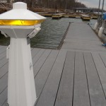 Wood Grain Composite DeckHatteras Power Pedestal