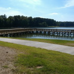Fishing Pier In RockRankin Lake, Gastonia, NC