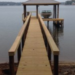 Southern Yellow Pine Dockwith Step Down Access