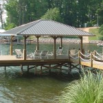 Covered Fixed Dockwith Gathering Area with Sun Deck