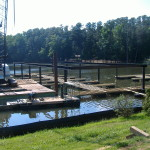 Steel Pilings in RockCity Lake, High Point, NC