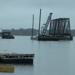 Barge, Crane and HammerMaking Way