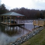 Covered Floating Dockwith 30 Ft Aluminum Ramp