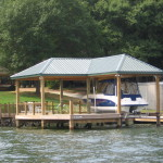 Covered Dock with SundeckPartially Covered Gathering Area