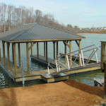Covered Fixed Dockwith Stainless Handrail