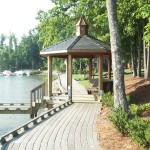 Gazebo with Bendi TREX DeckingLake Norman, NC
